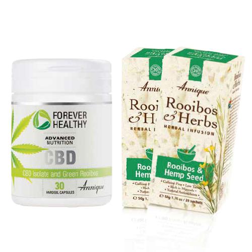 CBD Isolate capsules and 2x Rooibos and Hemp Seed Teas FREE!