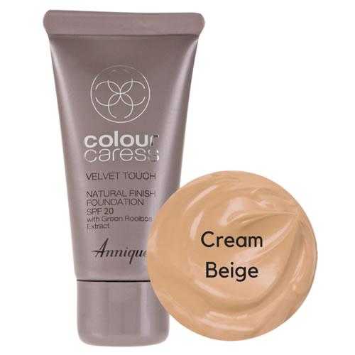 Annique Velvet Touch Foundation SPF 20 – 30ml | Cream Beige