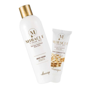 FREE Miracle Tissue Oil Pearl Hand Butter 50ml with Miracle Tissue Oil Body Wash 400ml